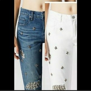 BlankNYC embellished blue jeans NWOT great for NYE